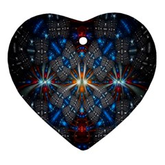Fancy Fractal Pattern Ornament (Heart)