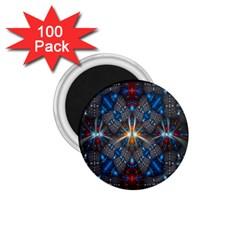 Fancy Fractal Pattern 1.75  Magnets (100 pack)