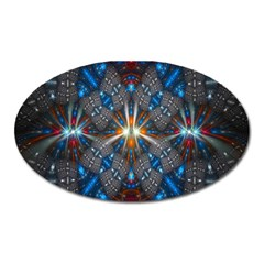 Fancy Fractal Pattern Oval Magnet