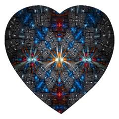 Fancy Fractal Pattern Jigsaw Puzzle (Heart)