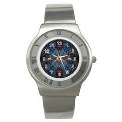 Fancy Fractal Pattern Stainless Steel Watch