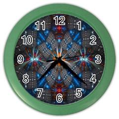Fancy Fractal Pattern Color Wall Clocks