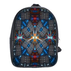 Fancy Fractal Pattern School Bags(Large)