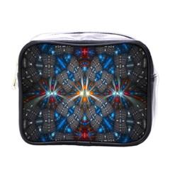Fancy Fractal Pattern Mini Toiletries Bags