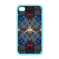 Fancy Fractal Pattern Apple iPhone 4 Case (Color)
