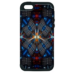 Fancy Fractal Pattern Apple iPhone 5 Hardshell Case (PC+Silicone)
