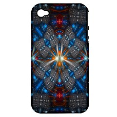 Fancy Fractal Pattern Apple iPhone 4/4S Hardshell Case (PC+Silicone)