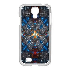 Fancy Fractal Pattern Samsung GALAXY S4 I9500/ I9505 Case (White)