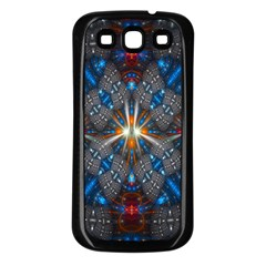 Fancy Fractal Pattern Samsung Galaxy S3 Back Case (Black)