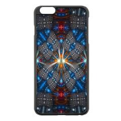 Fancy Fractal Pattern Apple Iphone 6 Plus/6s Plus Black Enamel Case