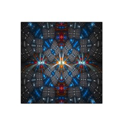 Fancy Fractal Pattern Satin Bandana Scarf