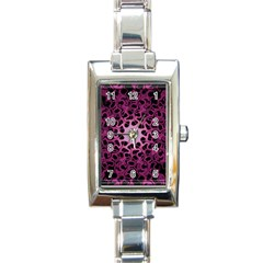 Cool Fractal Rectangle Italian Charm Watch