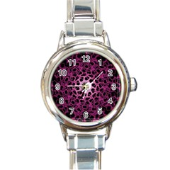 Cool Fractal Round Italian Charm Watch