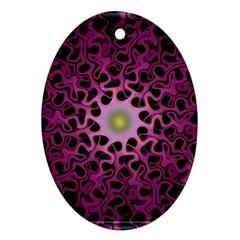 Cool Fractal Ornament (Oval)