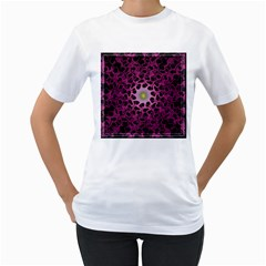 Cool Fractal Women s T-Shirt (White) (Two Sided)