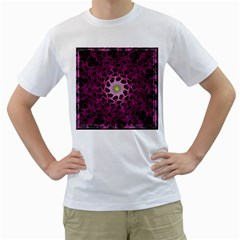 Cool Fractal Men s T-Shirt (White) (Two Sided)