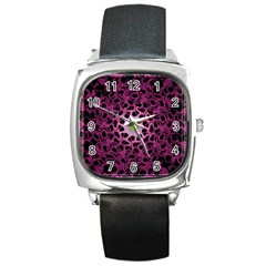 Cool Fractal Square Metal Watch