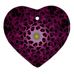 Cool Fractal Heart Ornament (Two Sides)