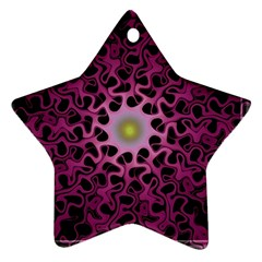Cool Fractal Star Ornament (Two Sides)
