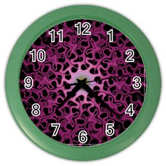 Cool Fractal Color Wall Clocks