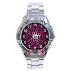 Cool Fractal Stainless Steel Analogue Watch