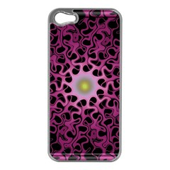 Cool Fractal Apple iPhone 5 Case (Silver)