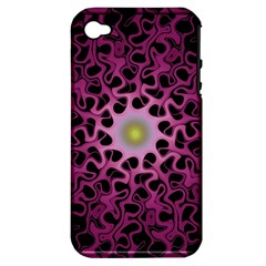Cool Fractal Apple iPhone 4/4S Hardshell Case (PC+Silicone)