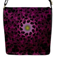 Cool Fractal Flap Messenger Bag (S)