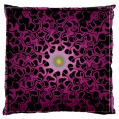 Cool Fractal Large Flano Cushion Case (One Side)