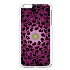 Cool Fractal Apple iPhone 6 Plus/6S Plus Enamel White Case