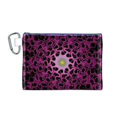 Cool Fractal Canvas Cosmetic Bag (m)