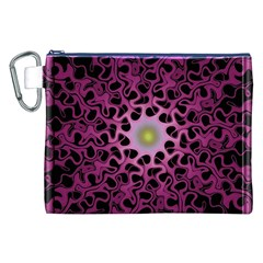 Cool Fractal Canvas Cosmetic Bag (XXL)