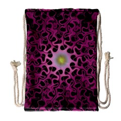 Cool Fractal Drawstring Bag (large)