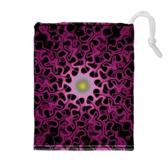 Cool Fractal Drawstring Pouches (Extra Large)