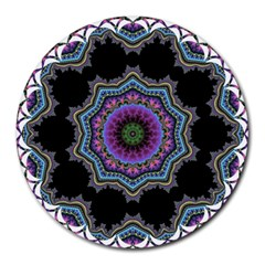 Fractal Lace Round Mousepads