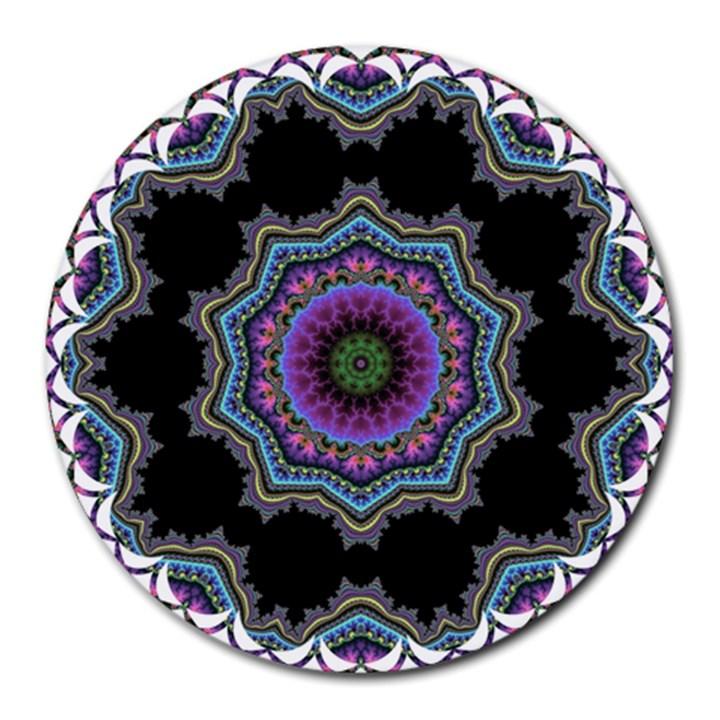 Fractal Lace Round Mousepads