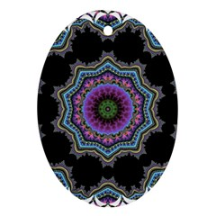 Fractal Lace Ornament (Oval)