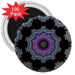 Fractal Lace 3  Magnets (100 Pack)