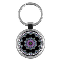 Fractal Lace Key Chains (Round)