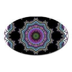 Fractal Lace Oval Magnet