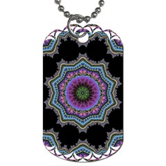 Fractal Lace Dog Tag (Two Sides)