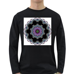 Fractal Lace Long Sleeve Dark T-Shirts