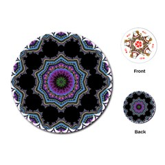 Fractal Lace Playing Cards (Round)