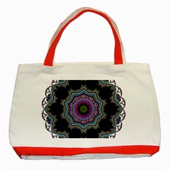 Fractal Lace Classic Tote Bag (Red)