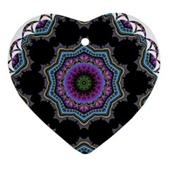 Fractal Lace Heart Ornament (two Sides)