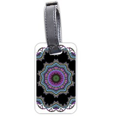 Fractal Lace Luggage Tags (Two Sides)