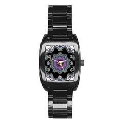 Fractal Lace Stainless Steel Barrel Watch