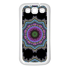 Fractal Lace Samsung Galaxy S3 Back Case (White)