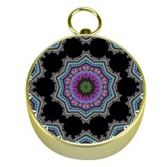 Fractal Lace Gold Compasses