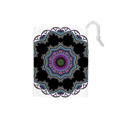 Fractal Lace Drawstring Pouches (small)